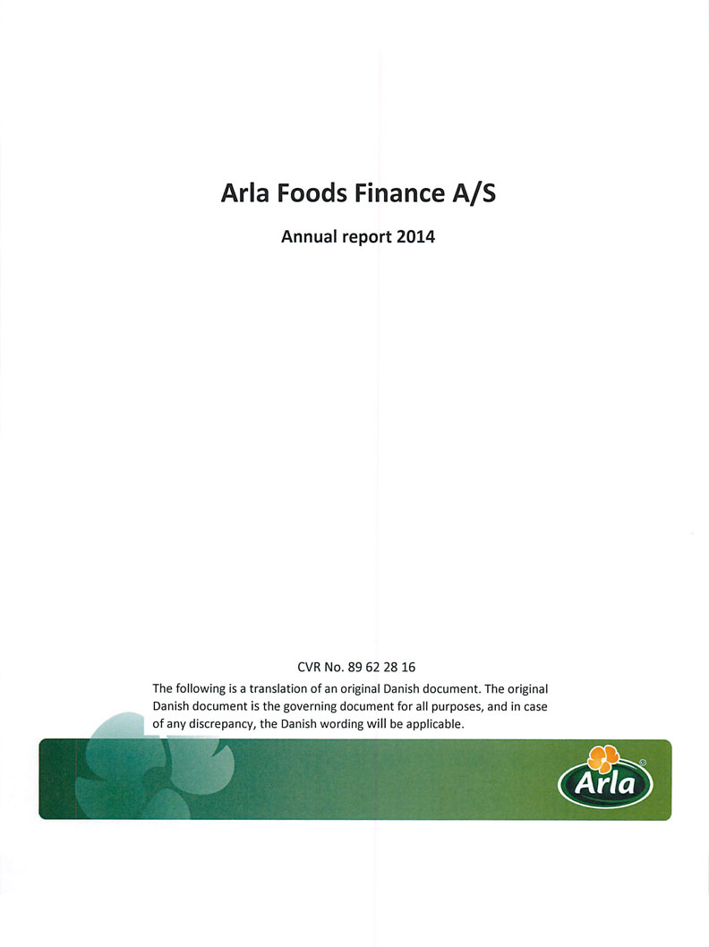 Arla Foods Finance A/S 2014